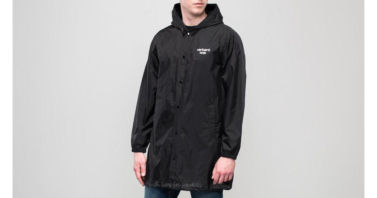 Lyst Carhartt Wip Hooded Astra Coach Jacket Black White In Black