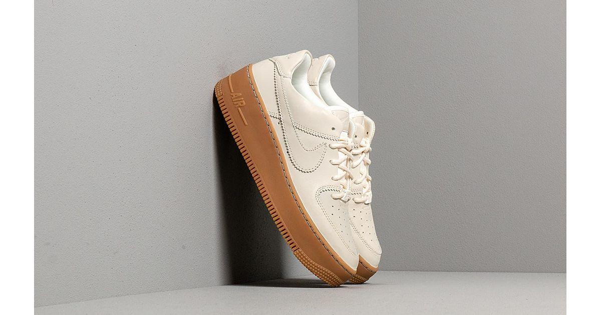 Nike W Air Force 1 Sage Low Lx Pale Ivory/ Pale Ivory-gum Light ...