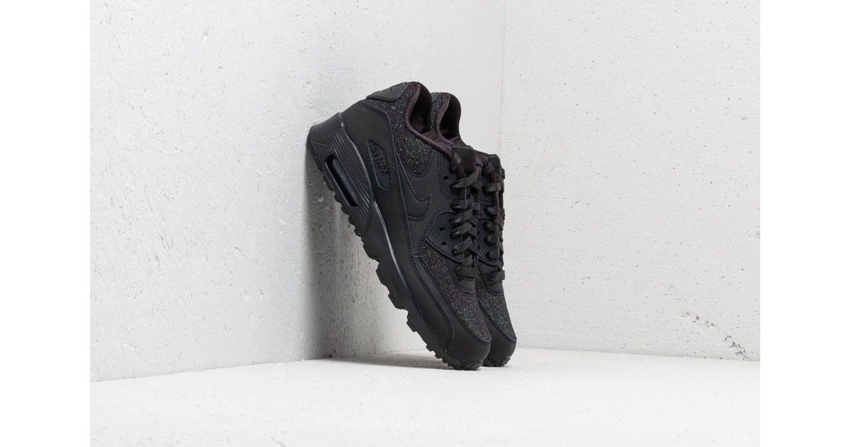 Nike Leather Air Max 90 Se Mesh (gs) Black/ Black-anthracite - Lyst