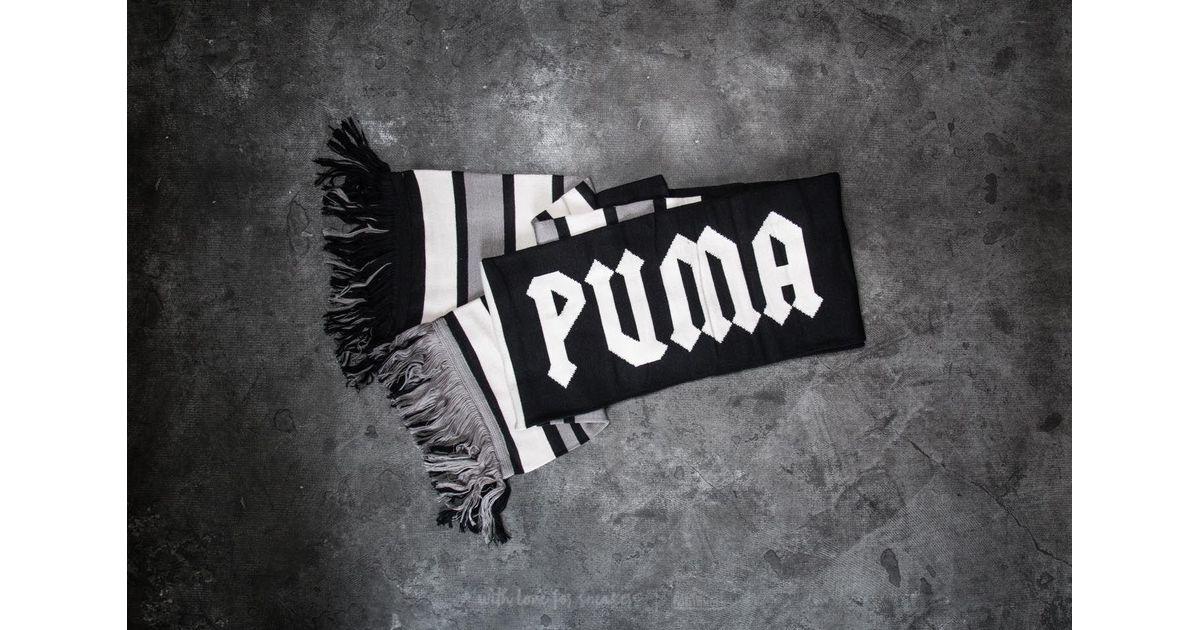 ab6243ea7232f Footshop Puma Fenty X Rihanna Long Varsity Scarf Puma Black-dove-steel Gray  for men