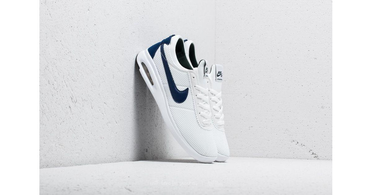 Nike SB Air Max Bruin Vapor TXT Shoes Mens 11 White Blue