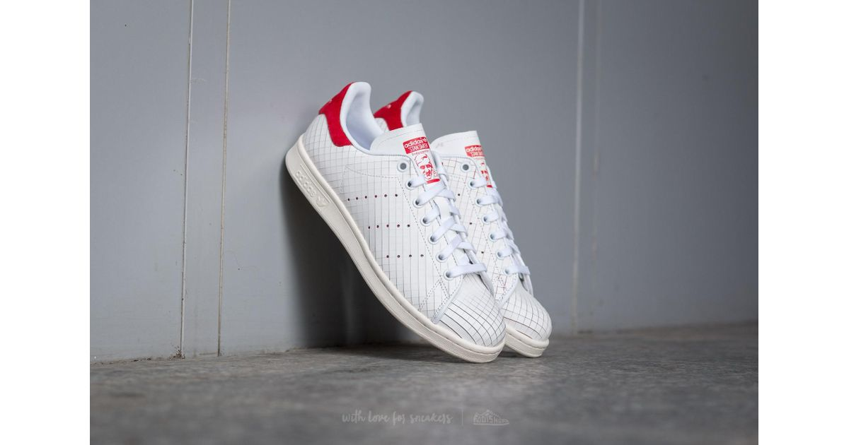 adidas stan smith white collegiate red