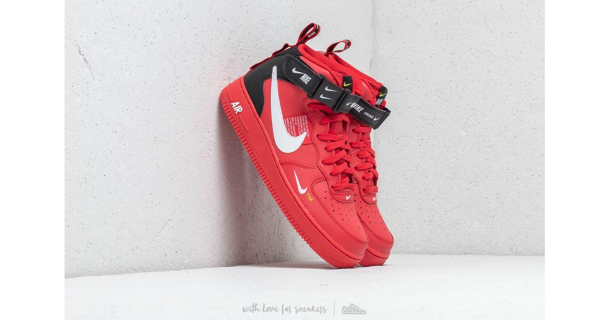 Nike Air Force 1 Mid '07 Lv8 University Red/ White- Black for men