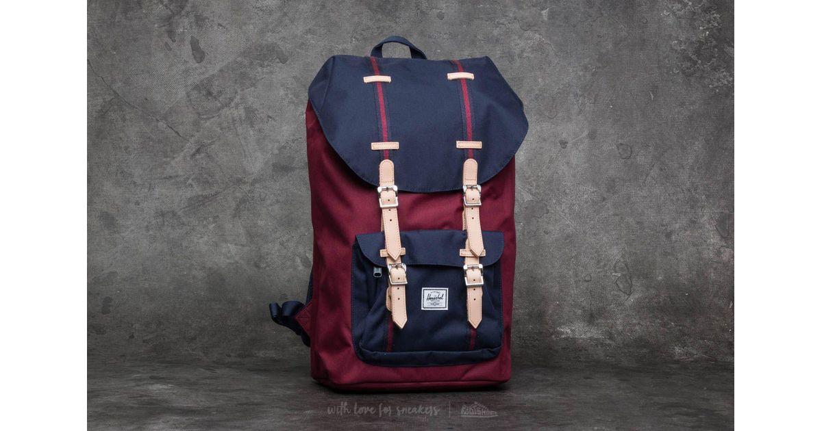 1d9ee8a07e3 Lyst - Herschel Supply Co. Little America Backpack Windsor Wine  Peacoat in  Blue for Men