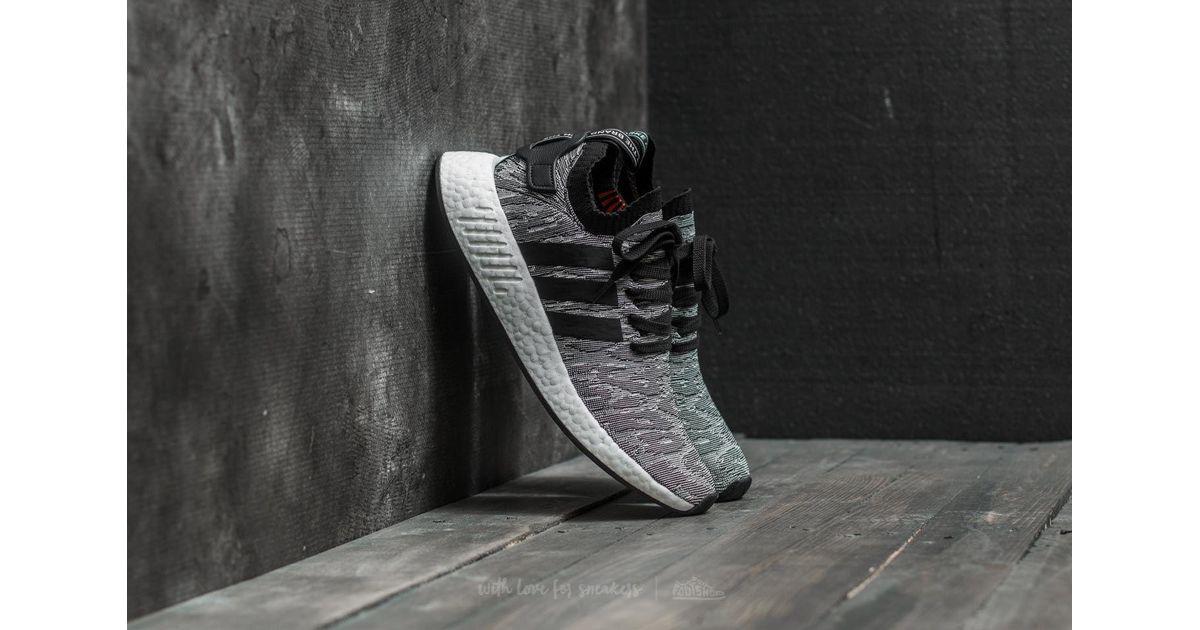 Mens Adidas Originals Adidas Nmd_R2 Primeknit Ftw White