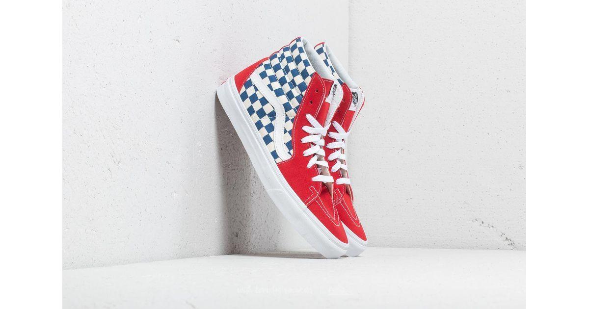 c07a8eba Vans Sk8-hi (bmx Checkerboard) True Blue/ Red for men