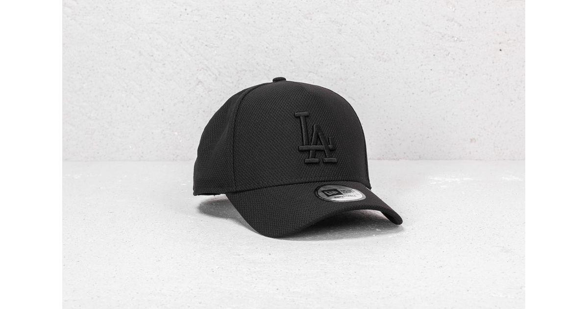 0b7df4414f7 Lyst - KTZ 9forty Mlb Aframe Diamond Era Los Angeles Dodgers Snapback Black   Black in Black for Men