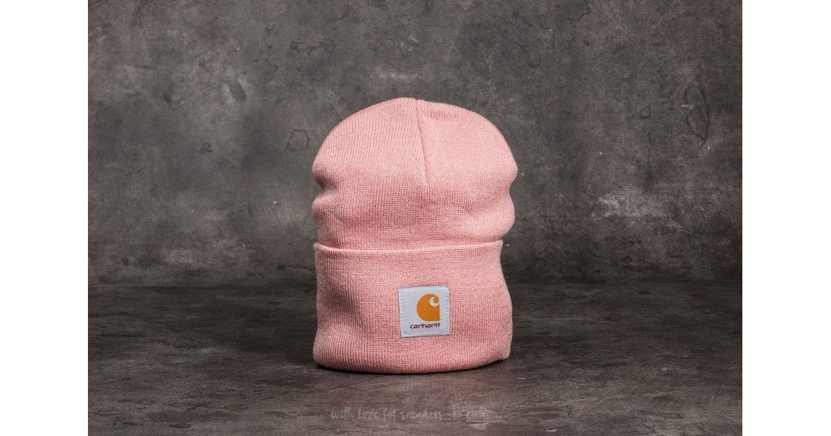 8fd843832 Carhartt WIP Pink Acrylic Watch Hat Soft Rose
