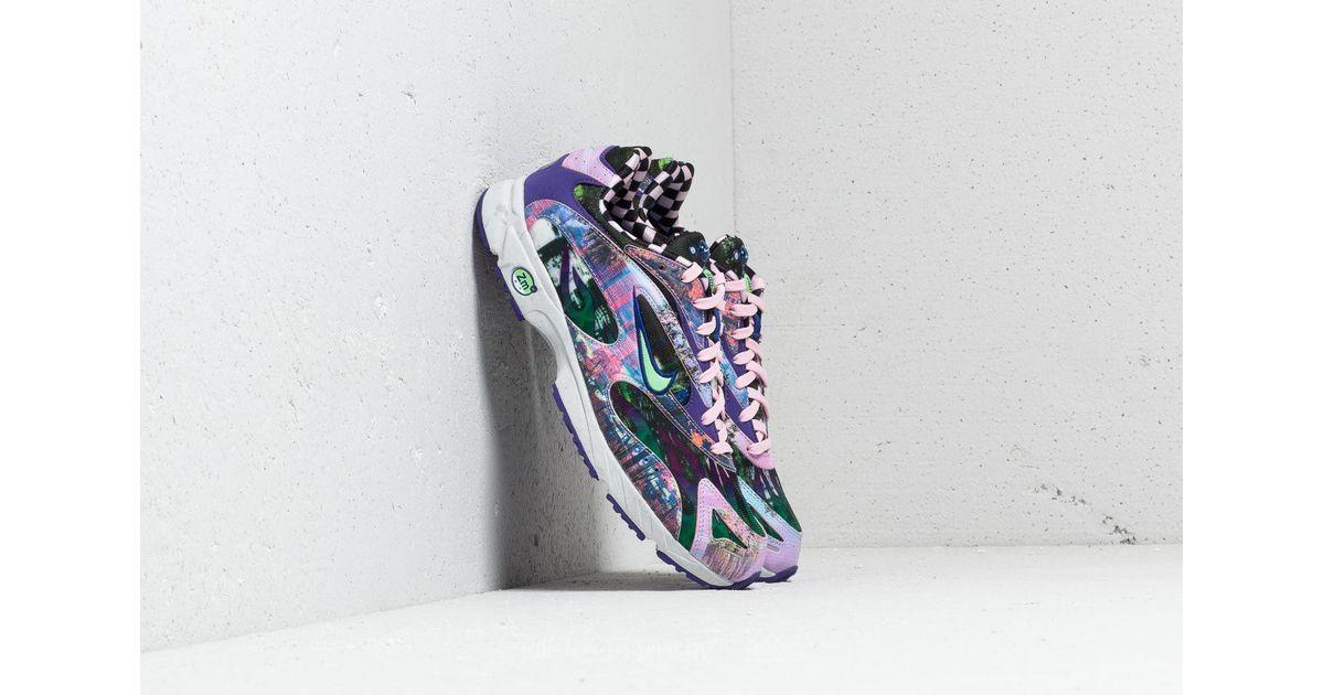 25bca4cc2ff4f1 Lyst - Nike Zoom Streak Spectrum Plus Premium Court Purple  Lt Poison Green  for Men
