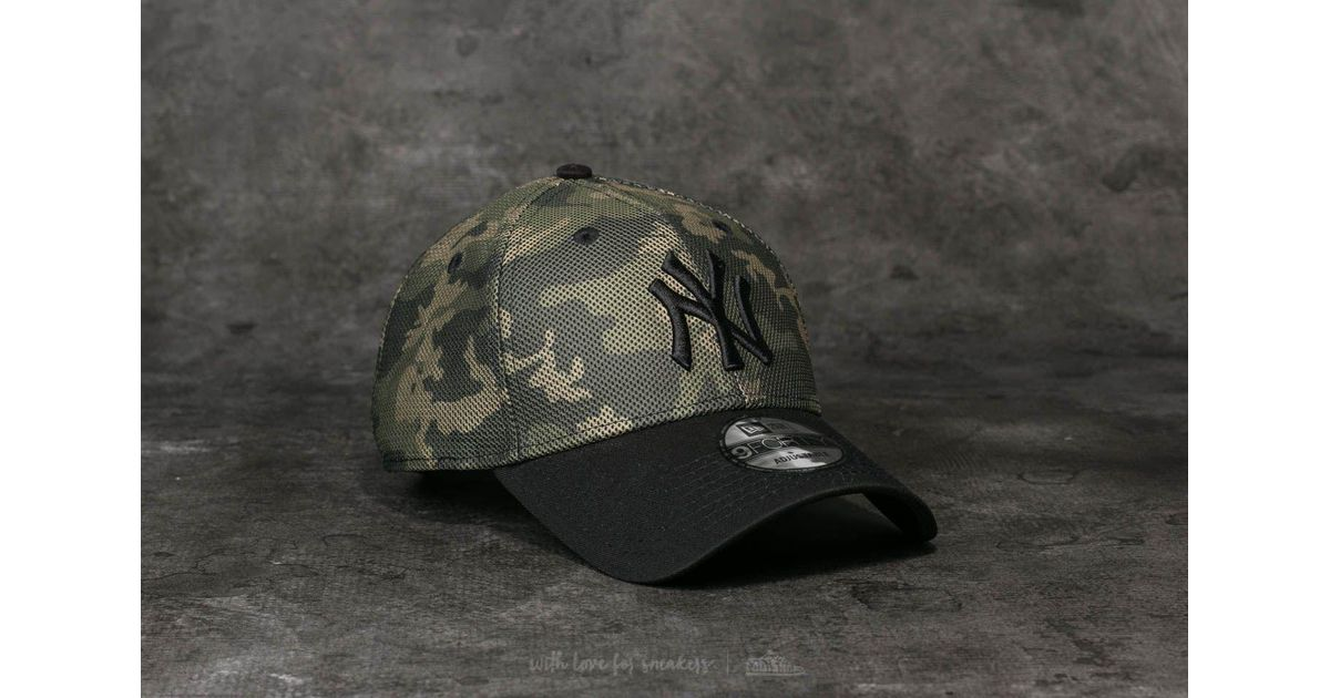 dd3786d96 KTZ 9forty Mlb Mesh Overlay New York Yankees Cap Camo/ Black for men