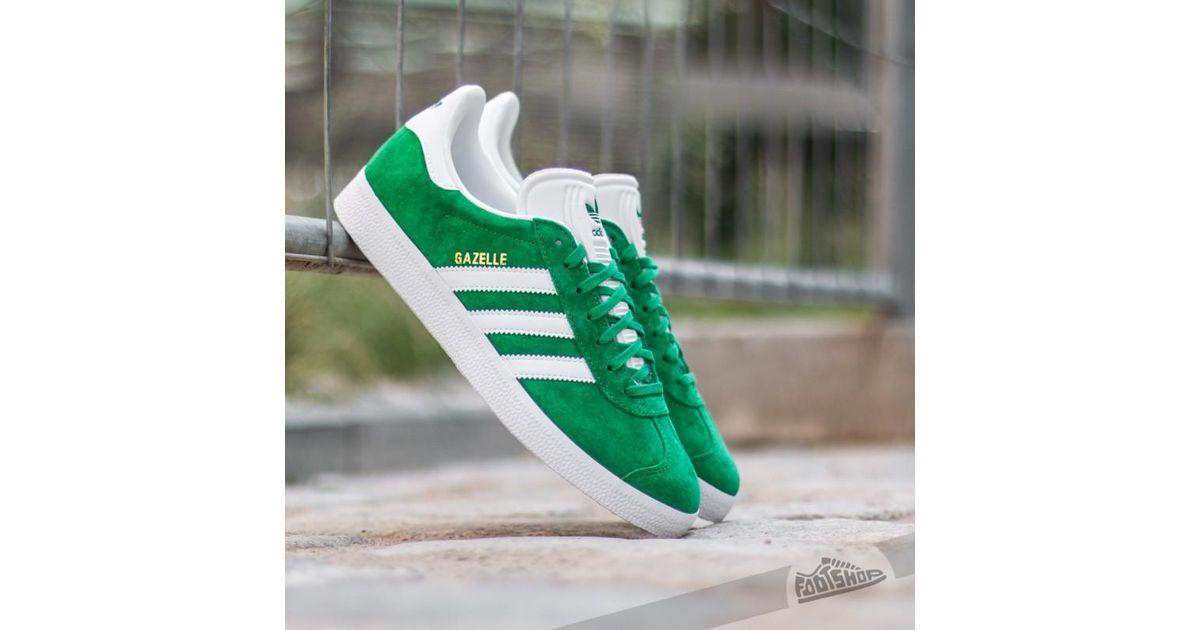 adidas gazelle green mens