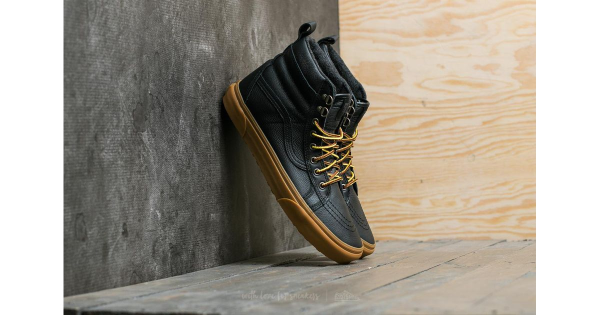 Vans Sk8-hi (mte) Black/ Leather/ Gum for men