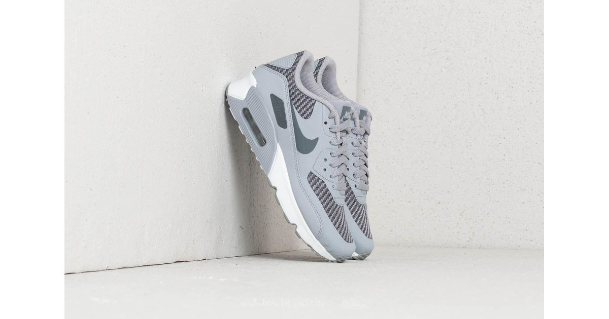 Nike Gray Air Max 90 Ultra 2.0 Se (gs) Wolf Grey Cool Grey white