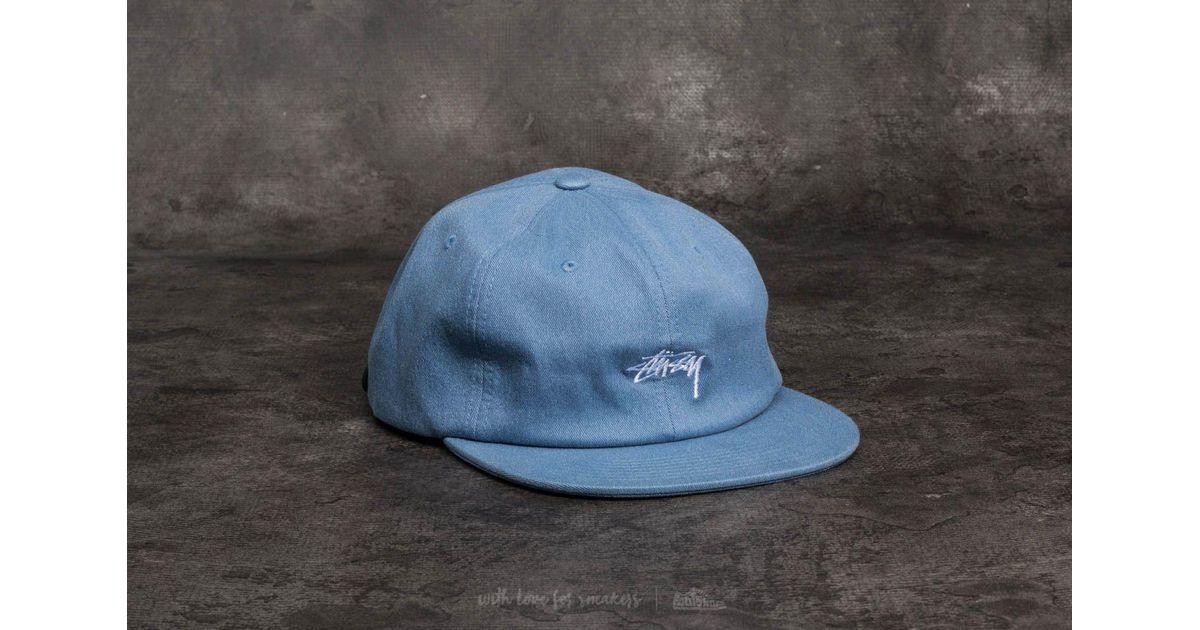 c476bd4100b Lyst - Stussy Melange Denim Strapback Cap Blue in Blue for Men