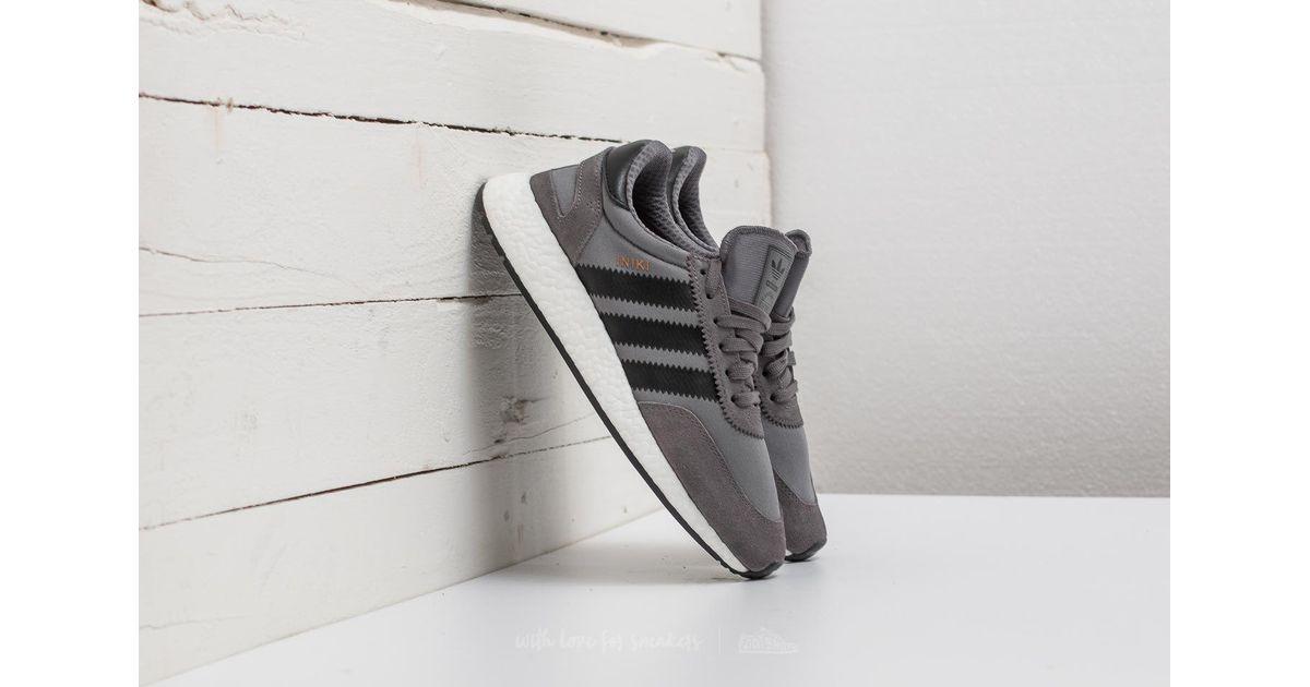 30aca7afc37152 Lyst - adidas Originals Adidas Iniki Runner Grey Four  Core Black  Footwear  White in Gray for Men
