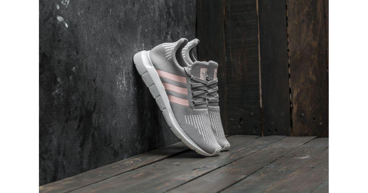 Adidas Originals Gray Adidas Swift Run W Grey Two Icey Pink Ftw White