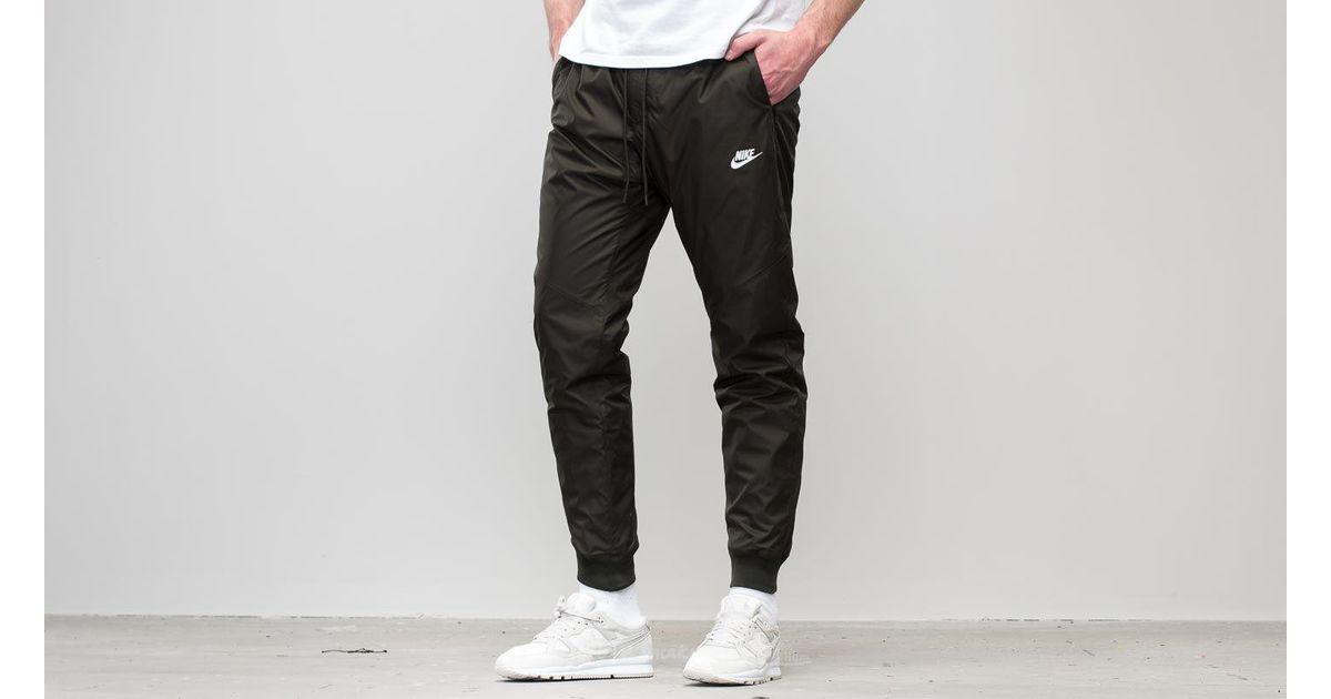 06eb95c8c2e6 Lyst - Nike Sportswear Windrunner Pants Sequoia  Sequoia  White in Black  for Men