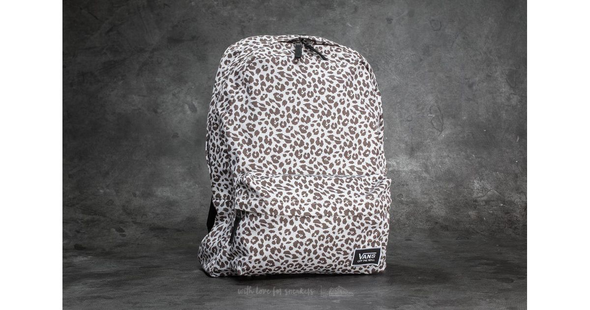 8501e1eb945a Lyst - Vans Realm Backpack Birch Leopard