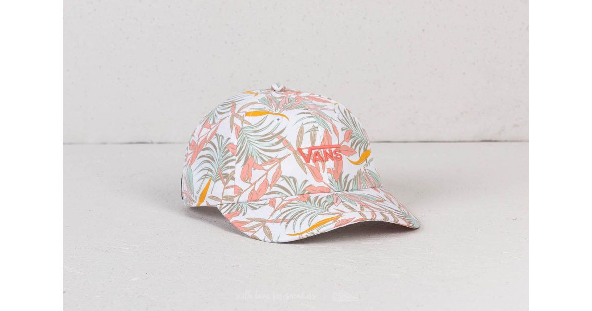 25c28d68 Vans Court Side Printed Hat White California Floral