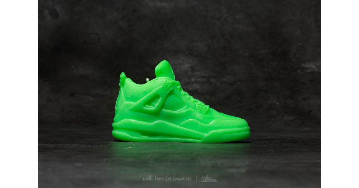 Shape Air Jordan 4 Candle Neon Green