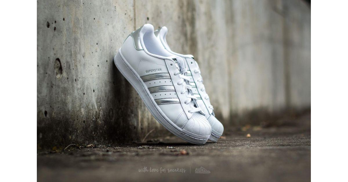 timeless design 823db 1ba08 Lyst - adidas Originals Adidas Superstar Ftw White Silver Metallic Core  Black in Metallic