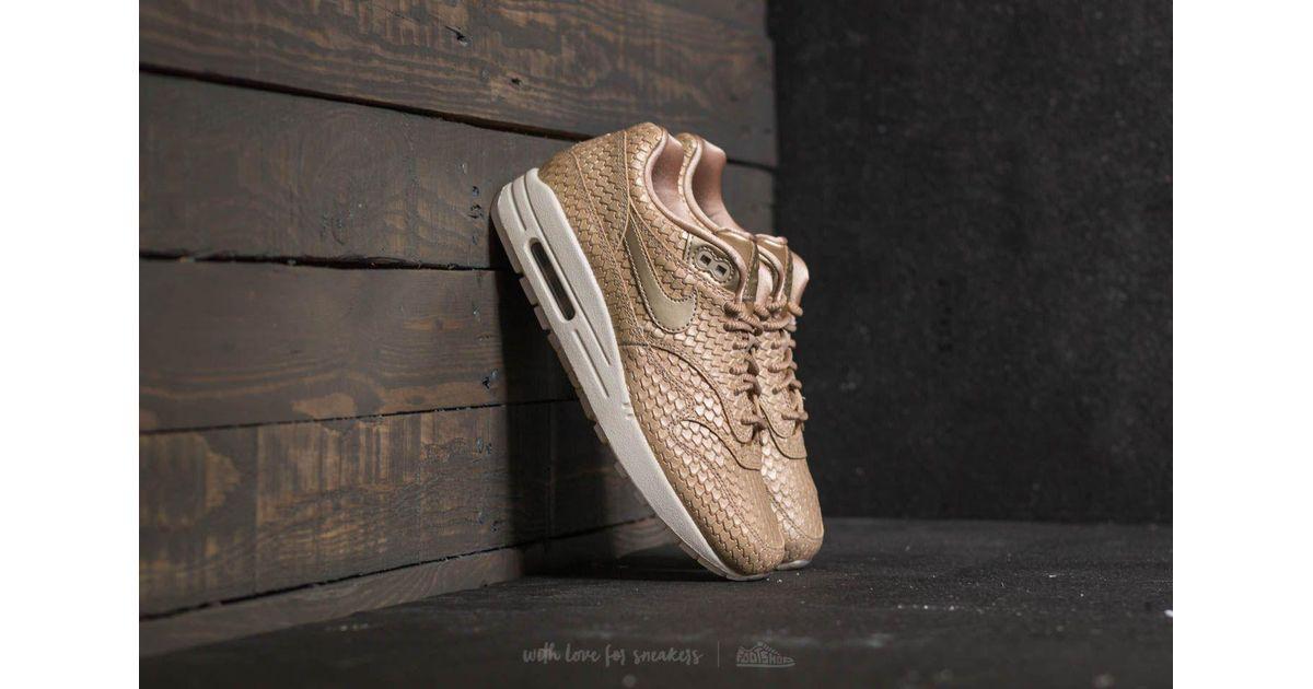 best service ddd9e bb964 Nike Wmns Air Max 1 Premium Blur  Blur-light Orewood Brown in Brown - Lyst