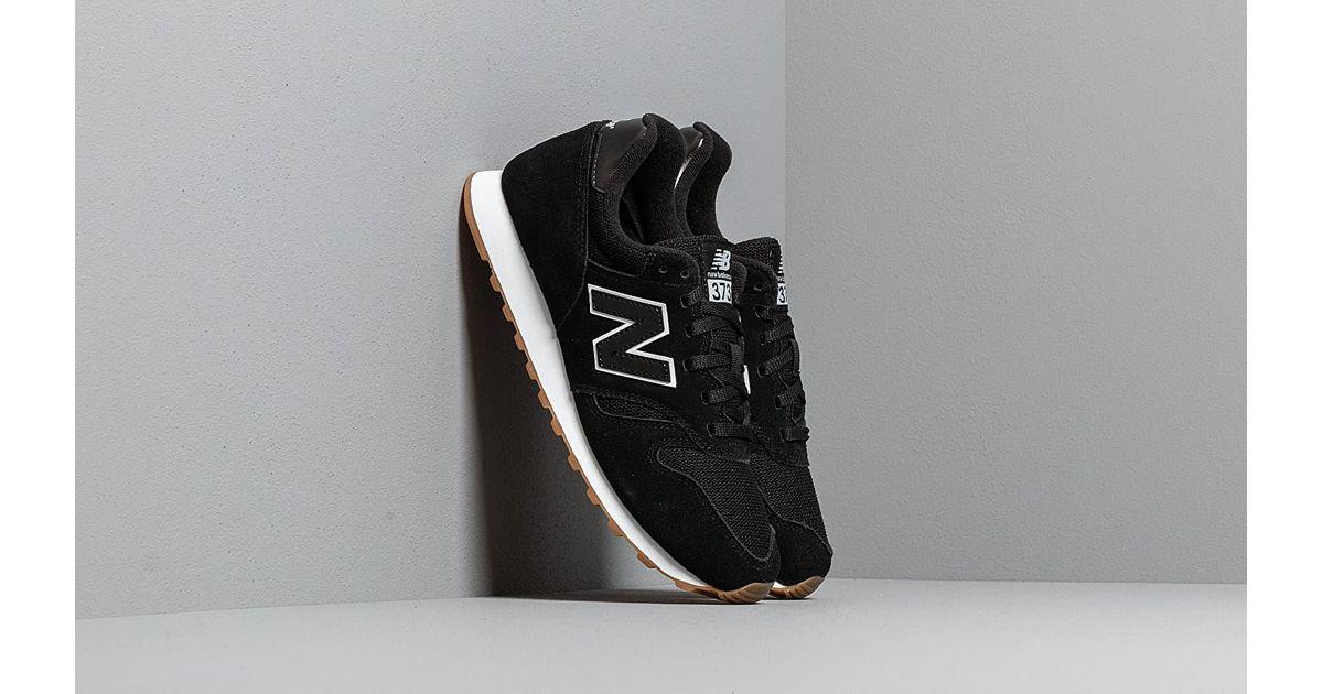 New Balance 373 Black/ White/ Gum