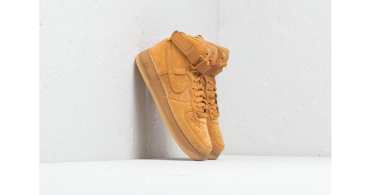 Nike Air Force 1 High Lv8 (gs) Wheat/ Wheat-gum Light Brown