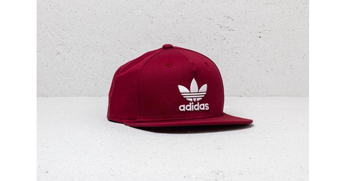 Lyst - adidas Originals Adidas Trefoil Snapback Collegiate Burgundy in Red  for Men 161678de05