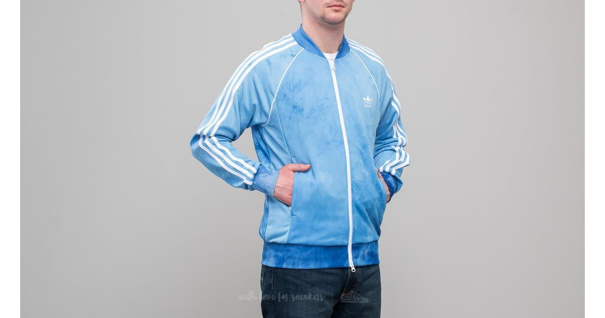Adidas Originals Adidas X Pharrell Williams Hu Holi Superstar Track Top Blue for men