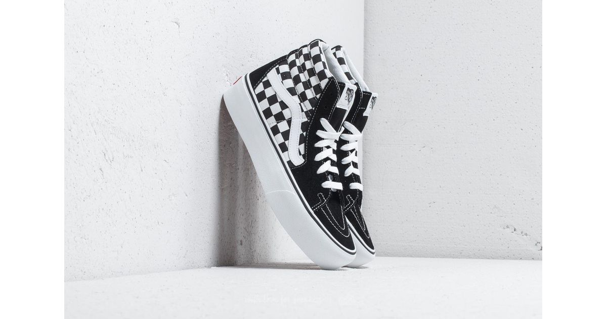 095f27a348 Lyst - Vans Sk8-hi Platform 2 Checkerboard  True White in White for Men