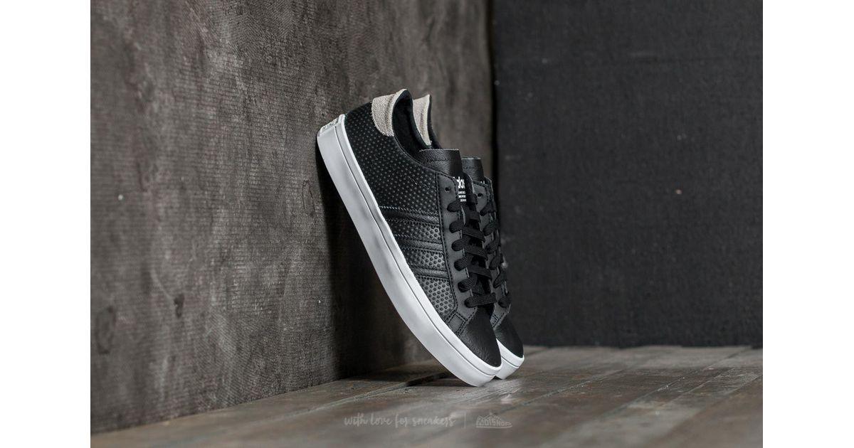 pretty nice 98641 04288 ... clearance lyst adidas originals adidas courtvantage w core black core  black ftw white in black ca0cd