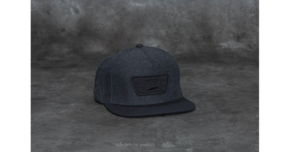 0a6bffa578 Lyst - Vans Full Patch Snapback Asphalt-black in Black for Men