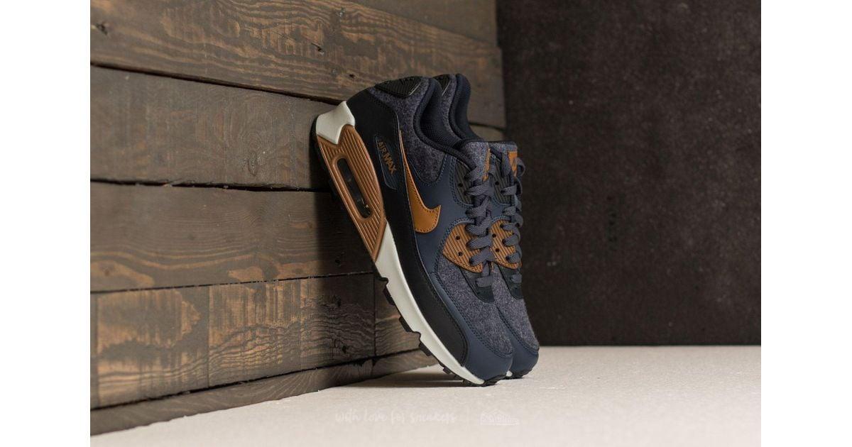 come ordinare cerca il più recente metà fuori Nike Leather Air Max 90 Premium Thunder Blue/ Ale Brown for Men - Lyst