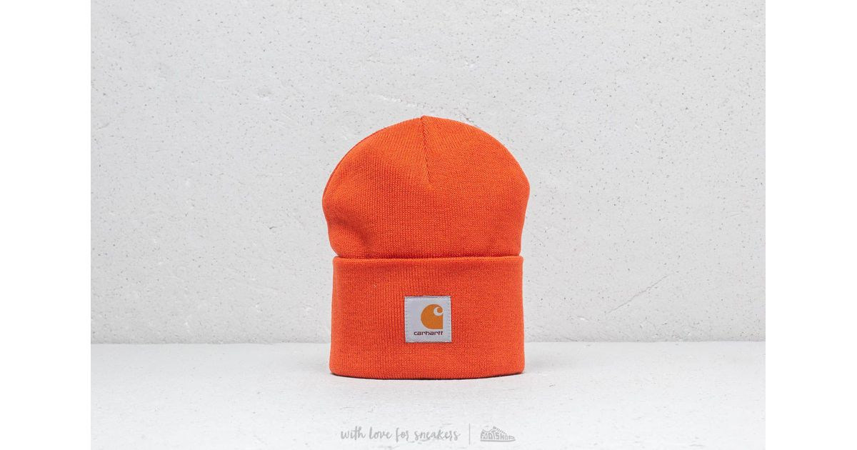 4f461096e56 Lyst - Carhartt WIP Watch Hat in Orange for Men - Save 46%