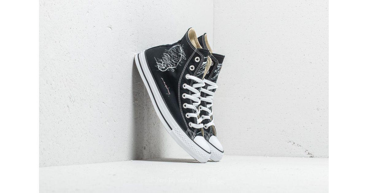 lyst footshop ftshp x maxim converse all star hi black in black