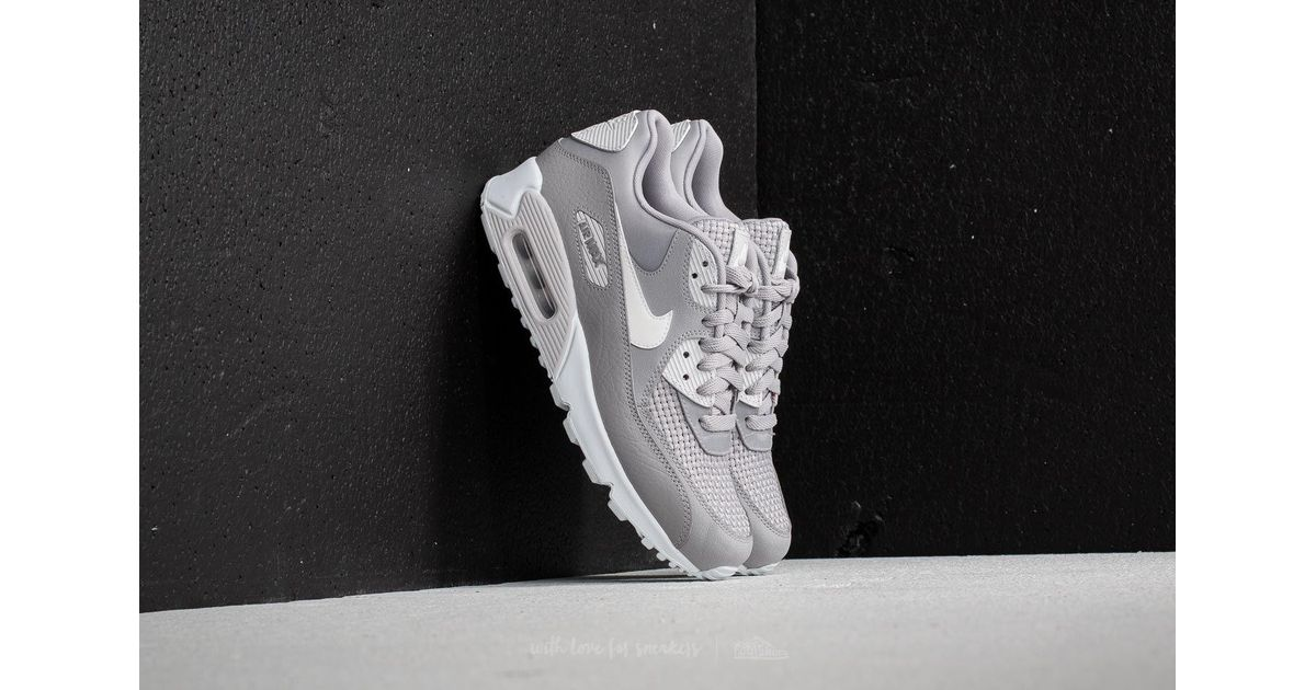 Lyst - Nike Wmns Air Max 90 Se Atmosphere Grey  White in Gray cc89c1332