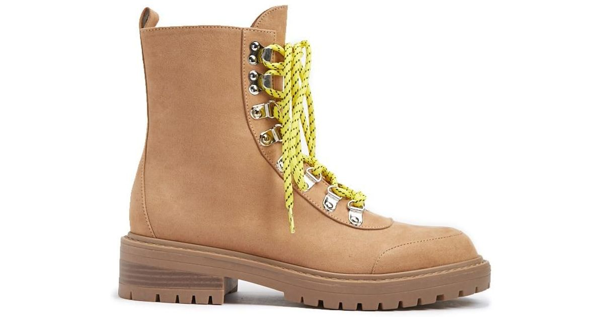 bcc0788fdd9 Forever 21 - Multicolor Contrast Lace-up Hiking Boots - Lyst