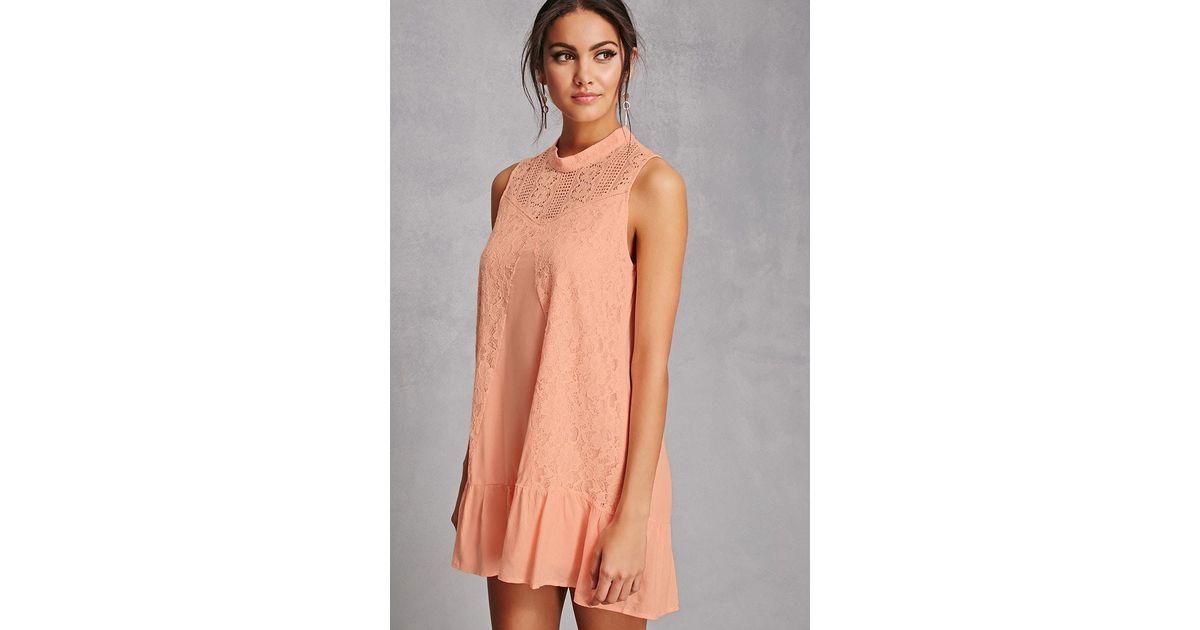 Forever 21 Multicolor Tassels N Lace Crochet Dress