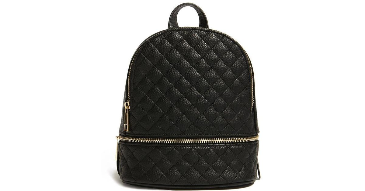 f82548312a9d Lyst - Forever 21 Faux Leather Mini Backpack in Black