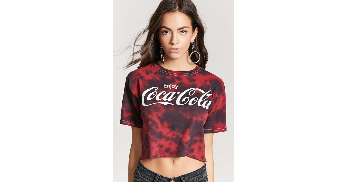 1aeb7611 Forever 21 Coca-cola Graphic Tee in Red - Lyst