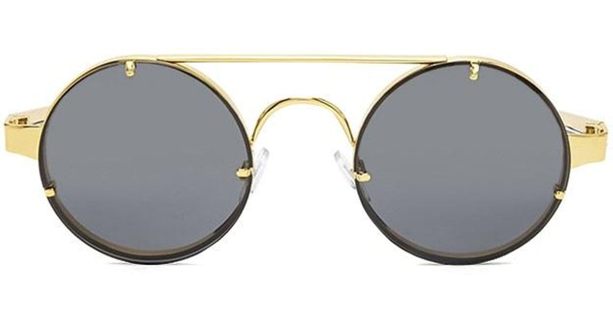 367ac3d243a Forever 21 Spitfire Round Sunglasses in Metallic