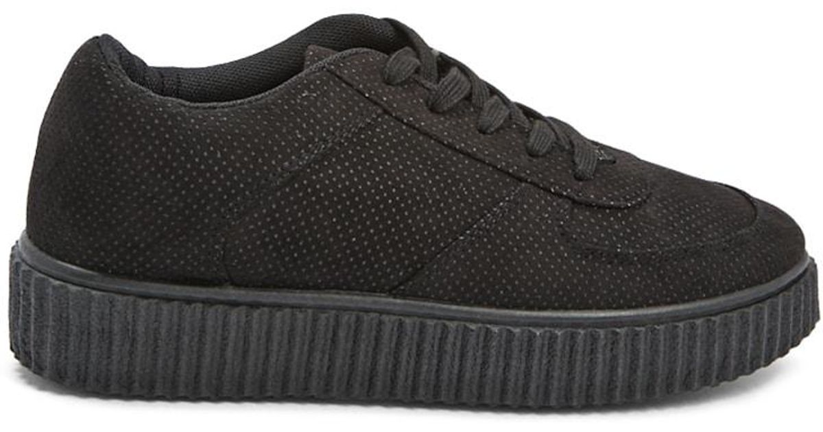 aa4304ee77f Lyst - Forever 21 Qupid Perforated Platform Sneakers in Black