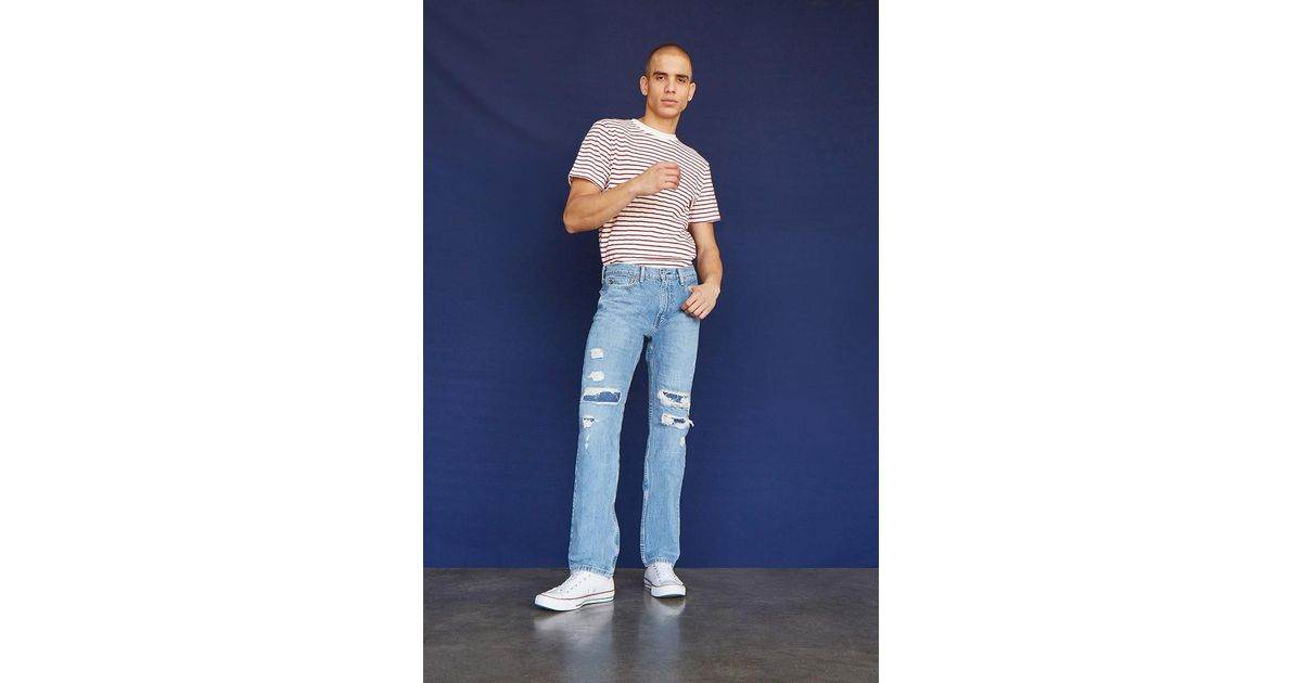 226ffa02ce Lyst - Forever 21 Levis 513 Slim Straight Distressed Jeans in Blue for Men