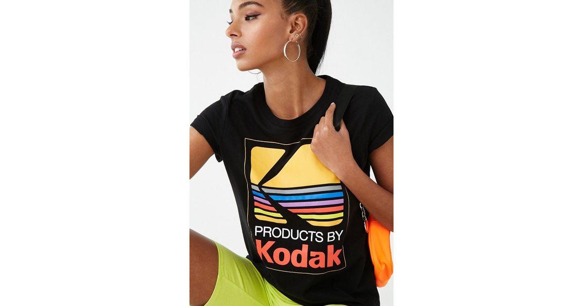 Forever 21 Black Women's Kodak Graphic Tee Shirt
