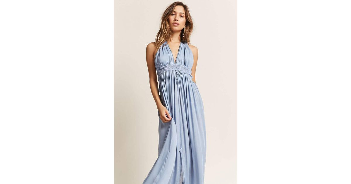 0df8ed3fc02f7 Light Blue Maxi Dress Forever 21 - Dress Foto and Picture
