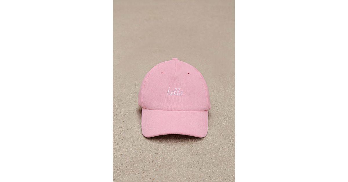 3d2fe408d Forever 21 Pink Men Hello Corduroy Dad Cap for men