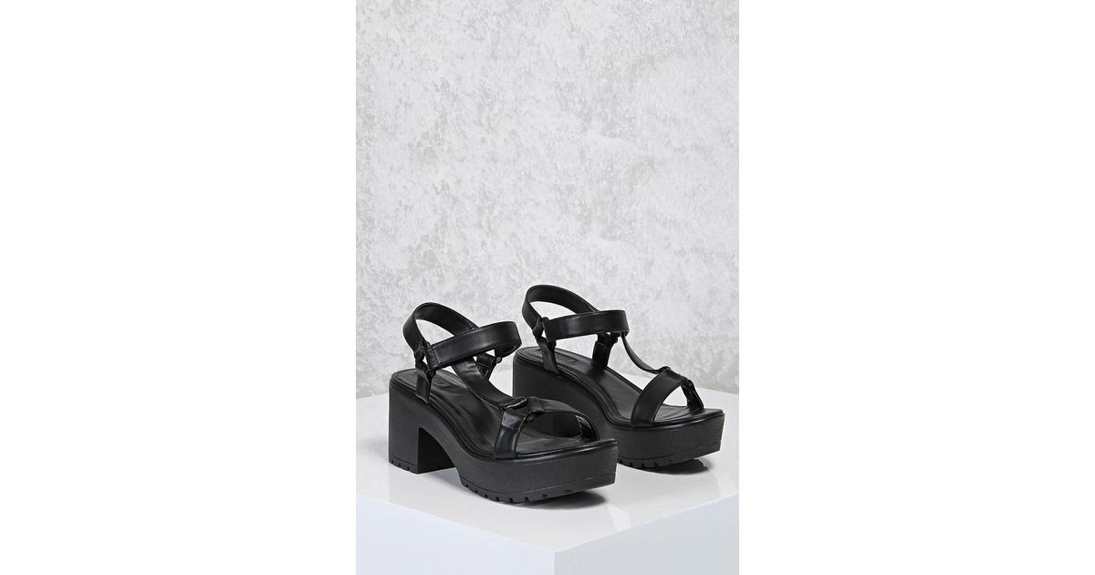 Forever 21 Chunky Platform Sandals in