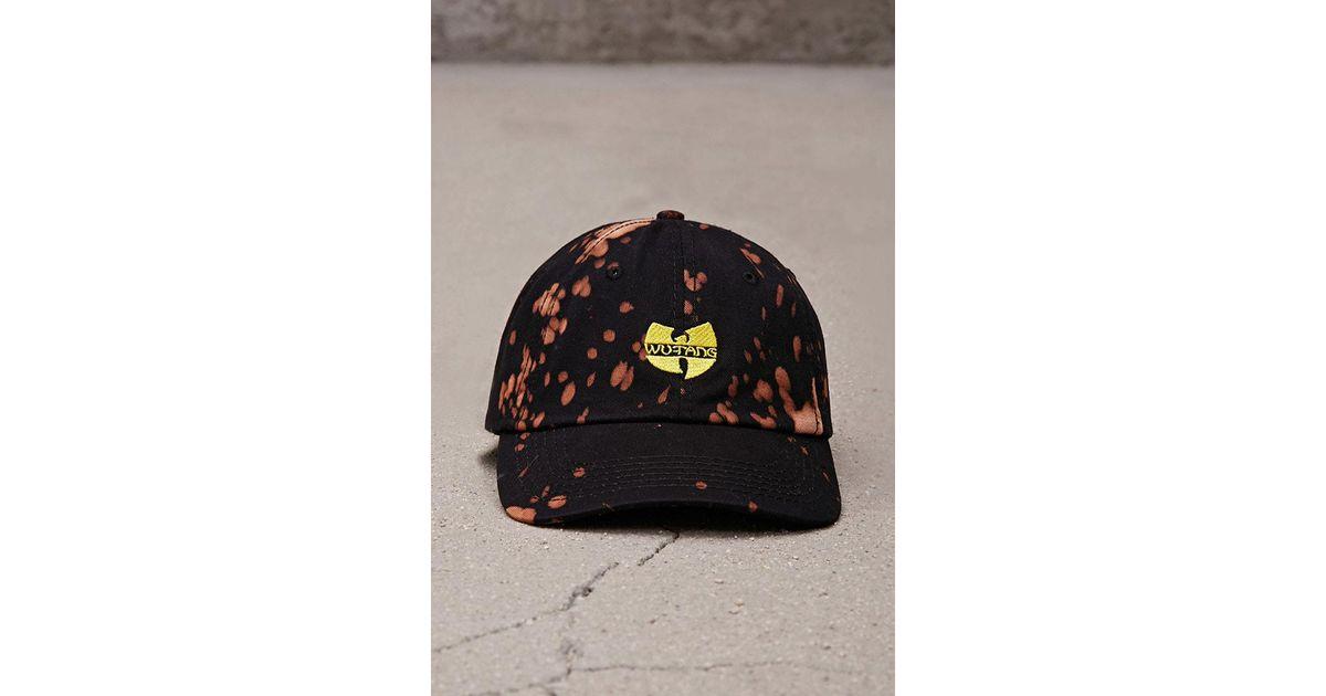 Forever 21 Bleach-dye Wu-tang Hat in Black for Men - Lyst d69b8702f3f