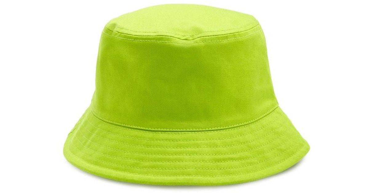 Forever 21 Cotton Solid Bucket Hat Lime In Green Lyst